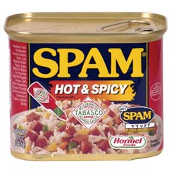 Not evil spam bot spam just regular hot & spicy spam