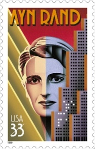 The Ayn Rand postage stamp from the US Post Office