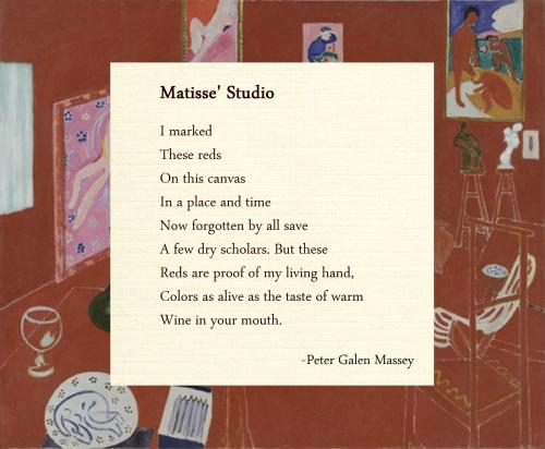 Matisse Studio Poem