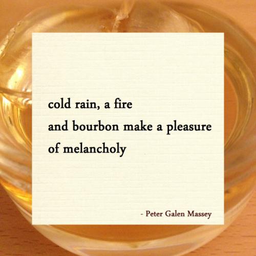 Bourbon and Melancholy Haiku Peter Massey