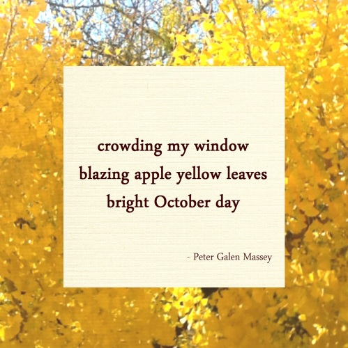 bright october day haiku massey