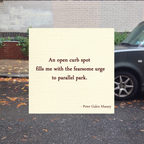 parking haiku peter massey