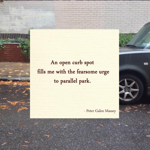 parking haiku peter massey
