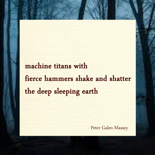 machine titans haiku peter massey
