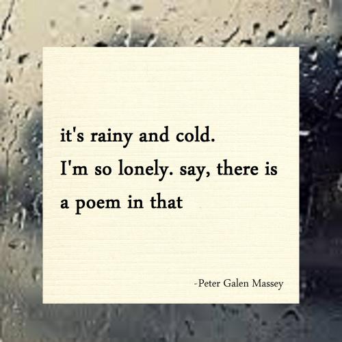 Instagram Haiku 11 Rainy and Cold