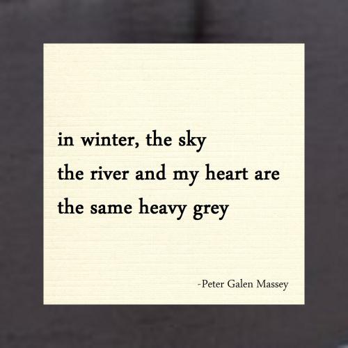 in winter haiku peter massey