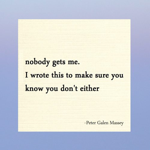 nobody gets me haiku peter massey