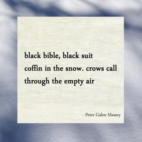 Crows Call Through The Empty Air Haiku Massey