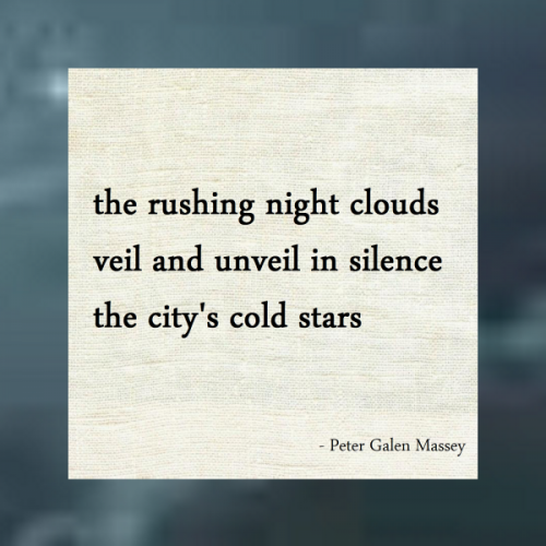 City Night Stars Haiku Peter Massey