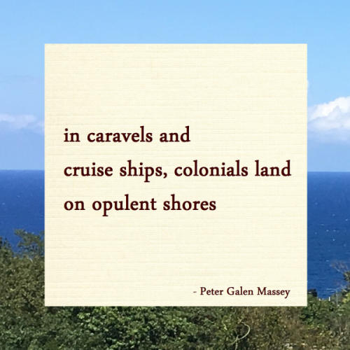 Caravels and Cruise Ships - Jamaica Haiku Peter Massey