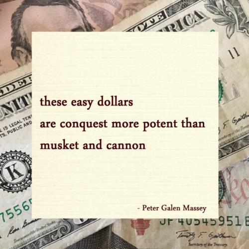The Conquest of Potent Dollars - Jamaica Haiku Peter Massey