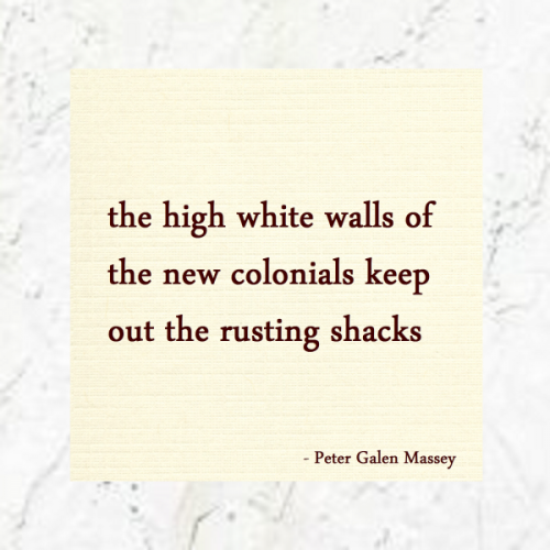 High White Walls New Colonials - Jamaica Haiku Peter Massey