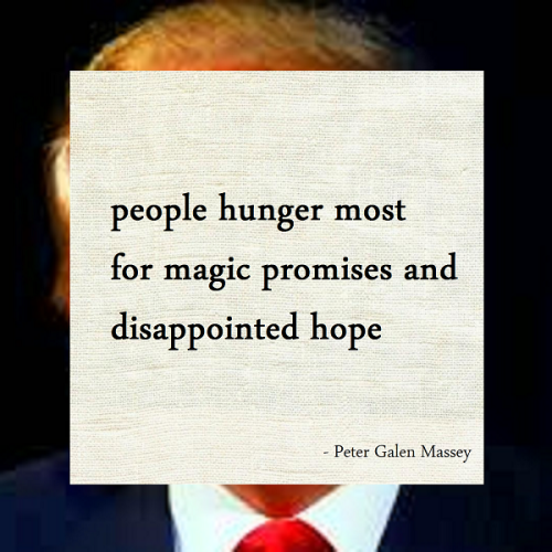 Haiku Peter Galen Massey Hunger for Disappointed Hope