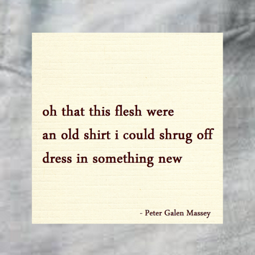 Haiku Peter Galen Massey Shrug Off This Old Shirt