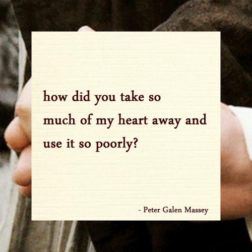 Haiku Peter Galen Massey How Did You Take My Heart Away