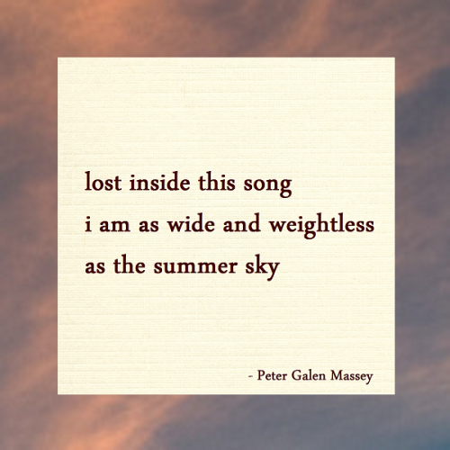 Haiku Peter Galen Massey Lost Inside This Song