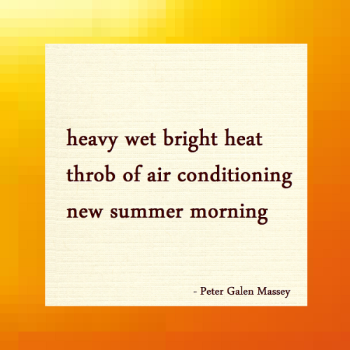 Haiku Peter Massey New Summer Morning