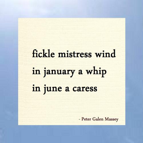 Haiku Peter Galen Massey Fickle Mistress Wind