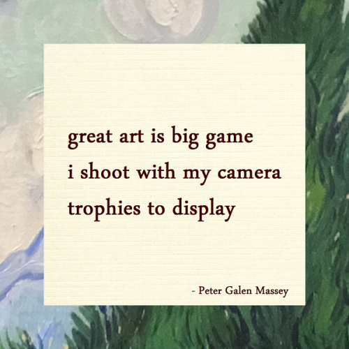 Haiku Peter Galen Massey Art Is A Trophy