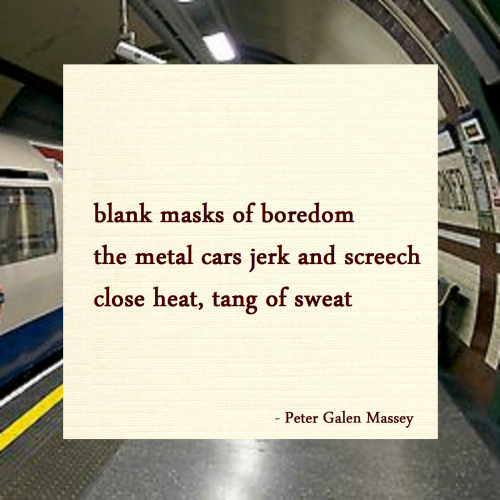 Haiku Peter Galen Massey Metal Cars Jerk and Screech