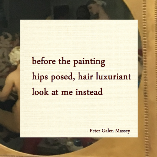 Haiku Peter Galen Massey Look At Me Instead