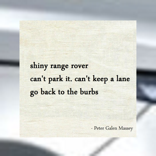 Haiku Peter Galen Massey Go Back To The Burbs