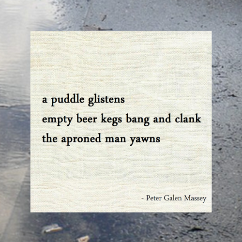 Haiku Peter Galen Massey The Aproned Man Yawns