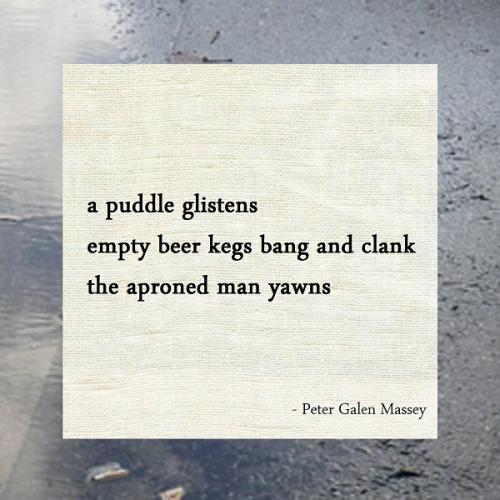 Haiku Peter Galen Massey The Aproned Man Yawns