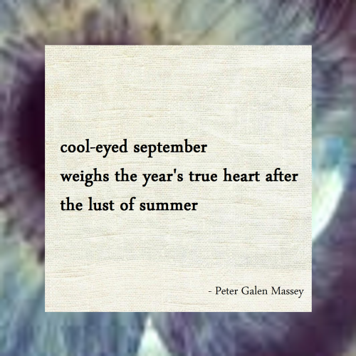 Haiku Peter Galen Massey The Lust of Summer
