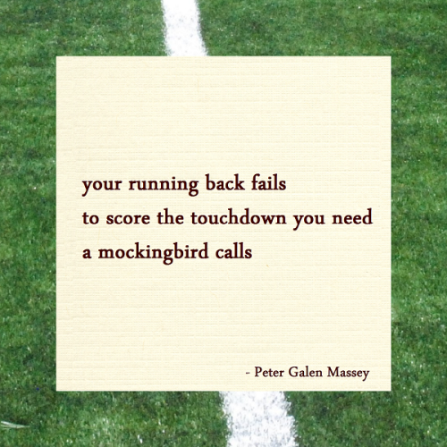 Peter Galen Massey Haiku Running Back Touchdown