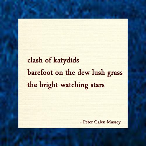 Haiku Peter Galen Massey Barefoot Dew Lush Grass