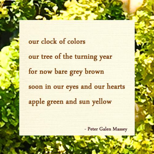 Peter Galan Massey Tanka Our Clock of Colors