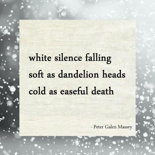 peter massey haiku white silence snow