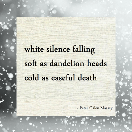 peter massey haiku white silence snow