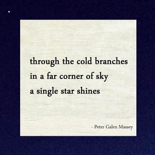 Peter Massey Haiku A Corner of Sky a Star