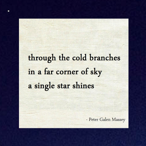 Peter Massey Haiku A Corner of Sky a Star