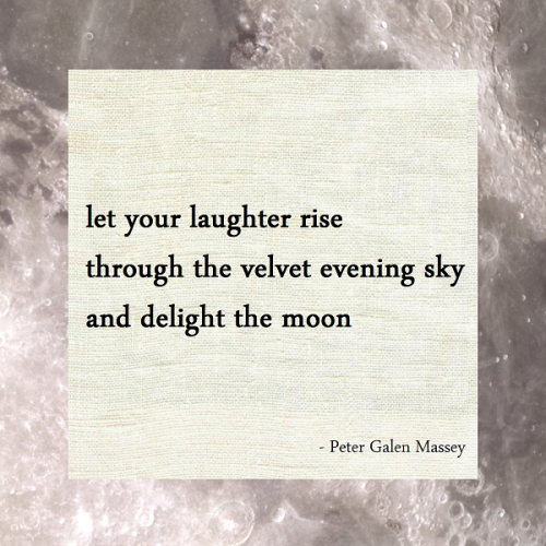 Haiku Peter Galen Massey Laughter Rise Velvet Evening Sky Delight Moon