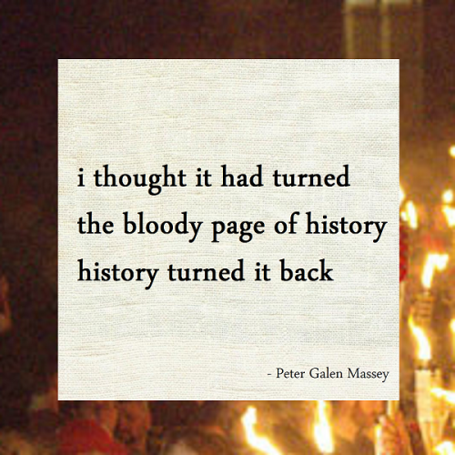 Peter Galen Massey Haiku 170 History Turned It Back