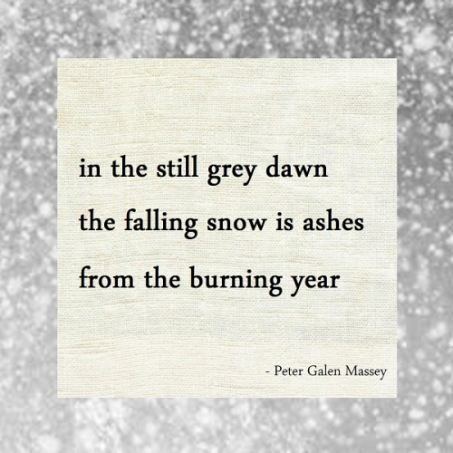 Haiku Peter Galen Massey Falling Snow Is Ashes