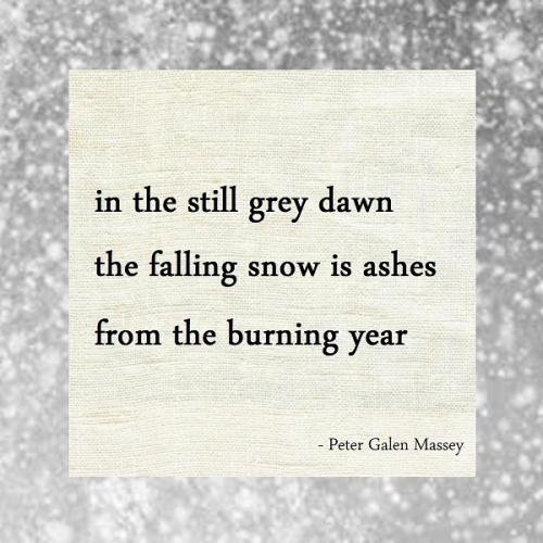 Haiku Peter Galen Massey Falling Snow Is Ashes